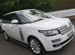 Range Rover wedding car hire in Barnsley